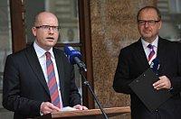 Bohuslav Sobotka (links). Foto: Filip Jandourek, Archiv des Tschechischen Rundfunks