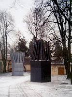 John Hejduk - 'House of the suicide' and 'House of the mother of the suicide', Prague castle, photo: Dystopos, Flickr