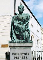 K. H. Mácha's statue in Litoměřice, photo: NoJin, CC BY-SA 3.0 Unported