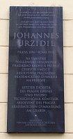 Gedenktafel für Johannes Urzidil in Prag (Foto: Gampe, Wikimedia Free Domain)