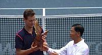 Tomáš Berdych à Shenzhen, photo : La chaîne YouTube de l'ATP World Tour