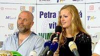 David Kotyza und Petra Kvitová (Foto: ČT24)