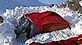 Nach zwei Tagen riss das erste Zelt