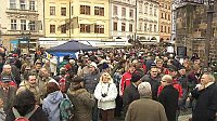 Demonstration in Prag (Foto: ČT24)