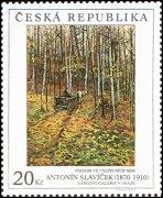 Briefmarke mit Antonin Slaviceks Gemälde ´Herbst in Veltrusy´ (Foto: www.infofila.cz)