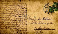 Tomáš Hrbek's postcard, photo: Tomáš Hrbek's family archive
