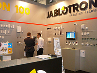 Jablotron exhibition stand at Securex fair, Poland, photo: Jablotron