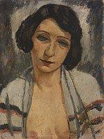 František Eberl, 'Jeune femme à la blouse ouverte', années 1920-30 / Centre tchèque de Paris