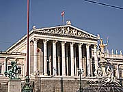 Parlamentsgebäude in Wien, 1883 - 1918 Sitz des Reichsrats (Foto: Friedrich Kromberg)