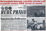 Rudé Právo - titulní strana, 4. května, 1986