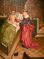 Sv. Anežka pečuje o nemocného
