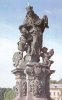 Св. Людмила и св. Вацлава (статуя на Карловом мосте в Праге)