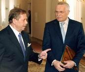Vaclav Havel und Vaclav Klaus (Foto: CTK)