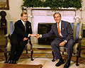 Vaclav Havel et George Bush (Photo: CTK)