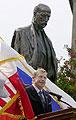 Vaclav Havel à la cérémonie d'inauguration d'une statue de Masaryk
