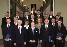 Václav Havel se členy nového vládního kabinetu, foto: ČTK