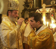 David Dudáš (vpravo) a arcibiskup Kryštof (Foto: ČTK)