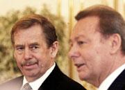 Vaclav Havel und Rudolf Schuster, Foto: CTK