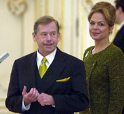 Vaclav Havel avec sa seconde femme, Dagmar, photo: CTK