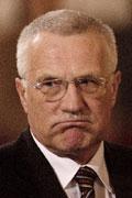 Zklamaný Václav Klaus, Foto: ČTK