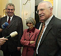 Milos Zeman, Jaroslava Moserova et Vaclav Klaus (Photo: CTK)