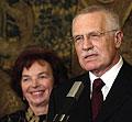 Václav Klaus y su esposa Livia, foto: CTK