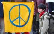 Prag am 9. 3. - Protest gegen Irak-Krieg (Foto: CTK)
