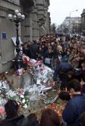 Erinnern an Zoran Djindic in Belgrad (Foto: CTK)