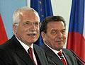 Václav Klaus a Gerhard Schröder, foto: ČTK