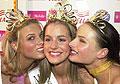 Zleva 1. vicemiss Klára Medková, Miss ČR 2003 Lucie Váchová a 2. vicemiss Markéta Divišová, foto: ČTK