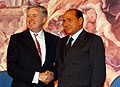 Silvio Berlusconi et Pat Cox, photo: CTK