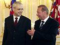 Vladimir Spidla und slowakischer Präsident Rudof Schuster (Foto: CTK)