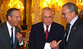 Donald L. Evans, Vclav Klaus et Craig Stapleton, photo: CTK