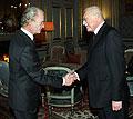 Le roi de Suède, Carl XVI Gustaf, avec le président de la République, Vaclav Klaus, photo: CTK