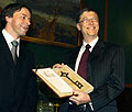 Pavel Bem et Bill Gates, photo: CTK