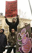 Demonstration gegen Ausbau von Kohleabbau und Kernenergie (Foto: CTK)