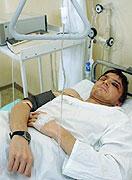 Tomáš Němeček v nemocnici (Foto: ČTK)
