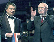 Ales Husak and Vaclav Klaus, photo: CTK