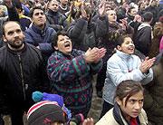 Protestierende Roma (Foto: CTK)