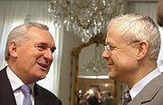 Bertie Ahern et Vladimir Spidla, photo: CTK