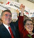 Heinz Fischer und seine Ehefrau Margit (Foto: CTK)