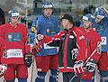 Slavomir Lener im Gespräch mit der Mannschaft (Foto: CTK)