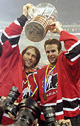 Scott  Niedermayer and Rob Niedermayer, photo: CTK