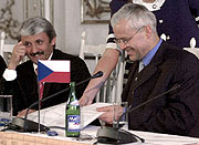 Mikulas Dzurinda und Vladimir Spidla (Foto: CTK)