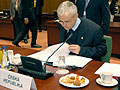 Tony Blair, Vladimir Spidla and Cyril Svoboda, photo: CTK