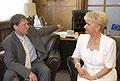 Stanislav Gross et Milada Emmerova, photo: CTK