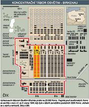 Koncentrační tábor Osvětim-Březinka (Zdroj: ČTK)