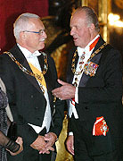President Vaclav Klaus and the Spanish king Juan Carlos, photo: CTK
