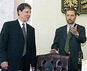 Stanislav Gross a Jan Jařab (Foto: ČTK)