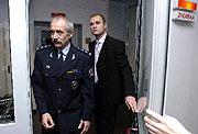 Czech police president Jiri Kolar and Ivan Langer, photo: CTK